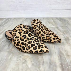 Steve Madden Velma Calfhair Cheetah Mules Size 6.5